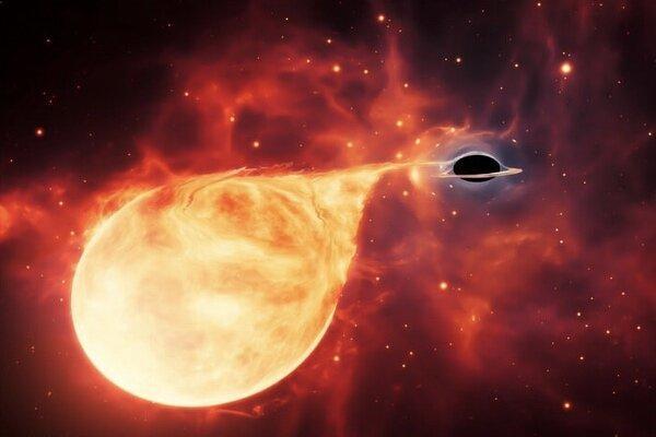 سیاهچاله ای 50 هزار برابر خورشید کشف شد
